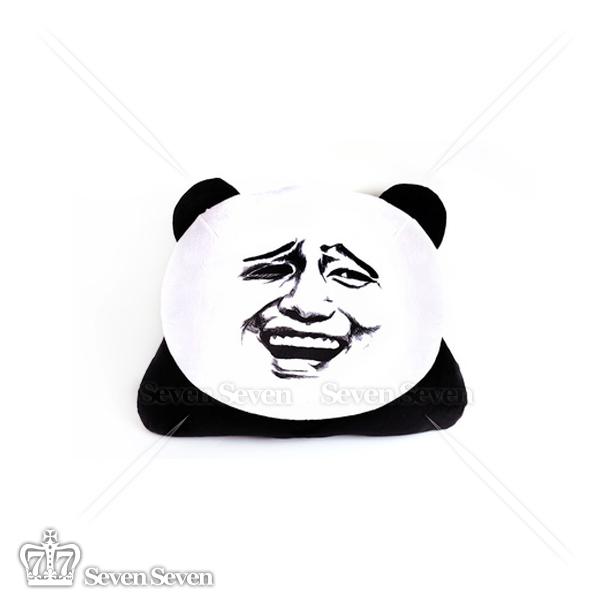 搞笑表情包熊猫抱枕-金馆长