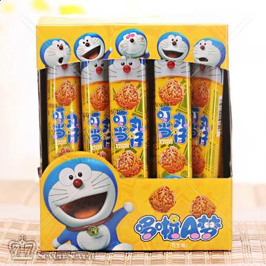 哆啦A梦休闲丸子系列礼盒装花生风味30条*18g