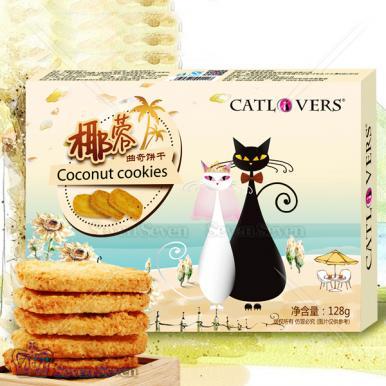 黑白猫椰蓉曲奇饼128g