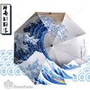 漫能出品神奈川巨浪三折黑胶晴雨伞