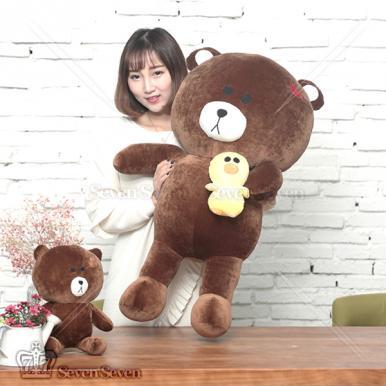 可爱布朗熊毛绒公仔50cm