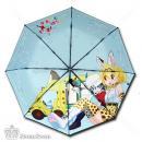 漫能出品三折黑胶晴雨伞-兽娘(伞内图案)