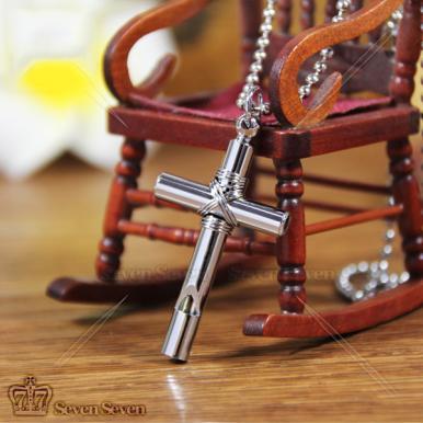 地狱少女十字架哨子项链40mm