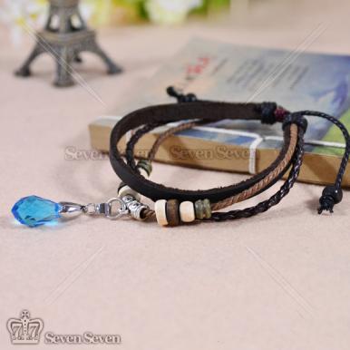 刀剑神域结衣之心皮绳手链-蓝色