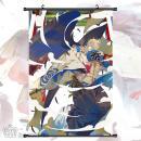 动漫卷轴缎纹布挂画4...