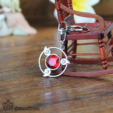 写轮眼施华洛宝石钥匙扣-红色