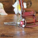 写轮眼施华洛宝石项链-红色
