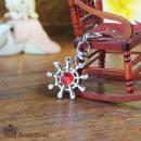 海贼船舵施华洛宝石钥匙扣(2色)